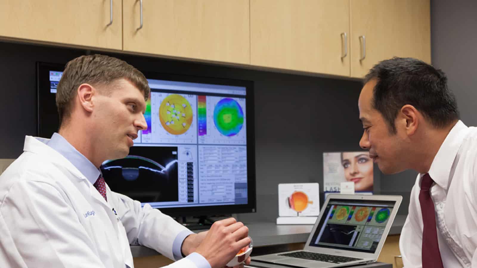 dr lance kugler talking with kugler vision patient