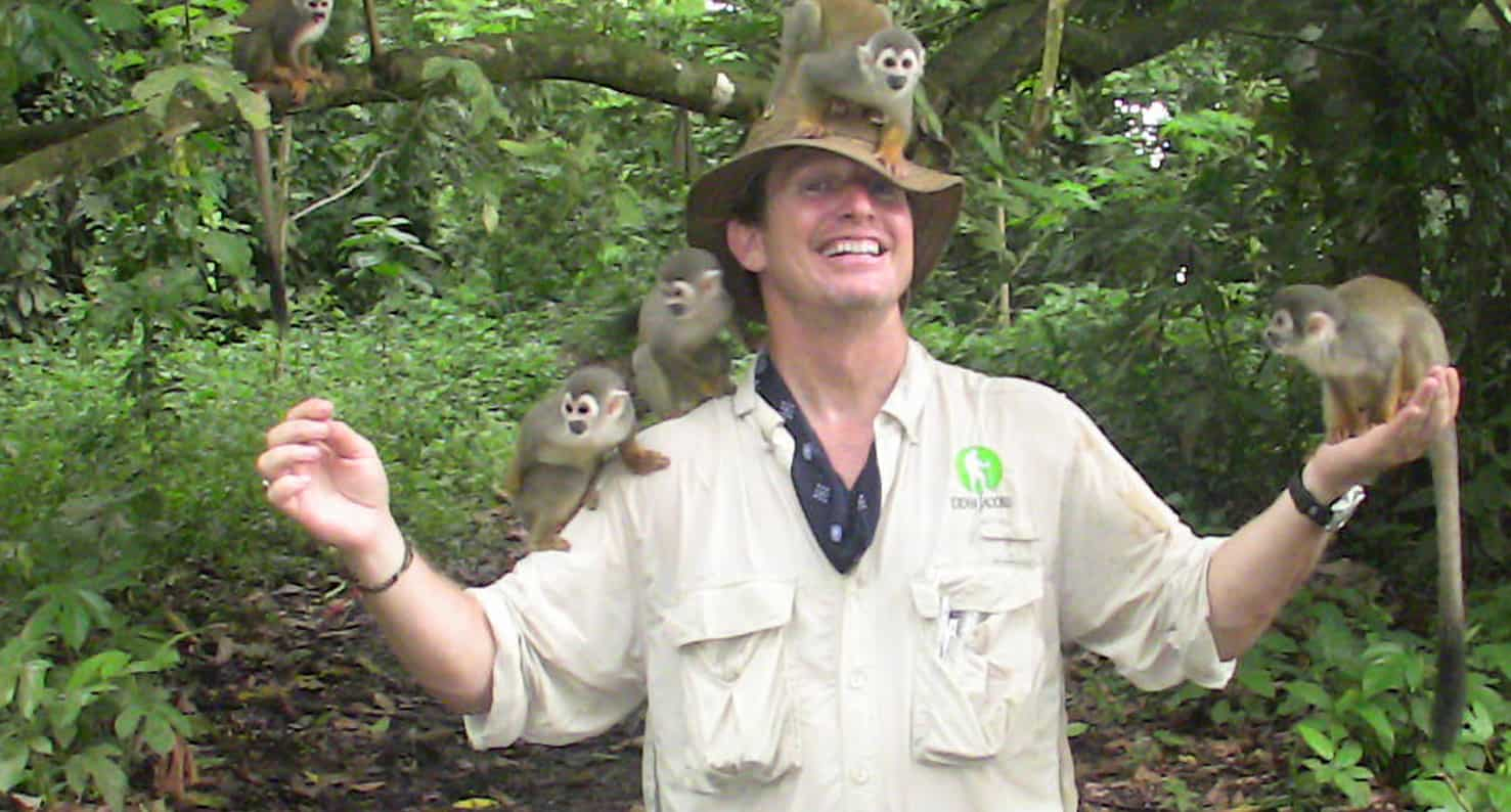 dean jacobs with monkeys