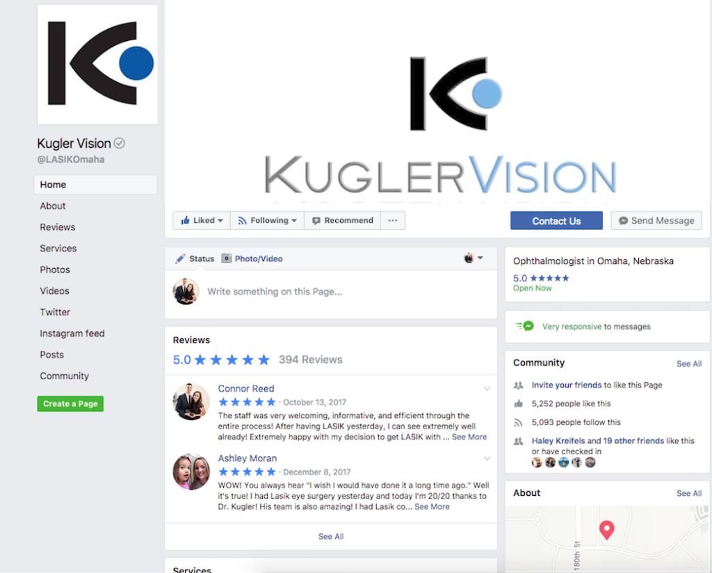 kugler vision facebook page