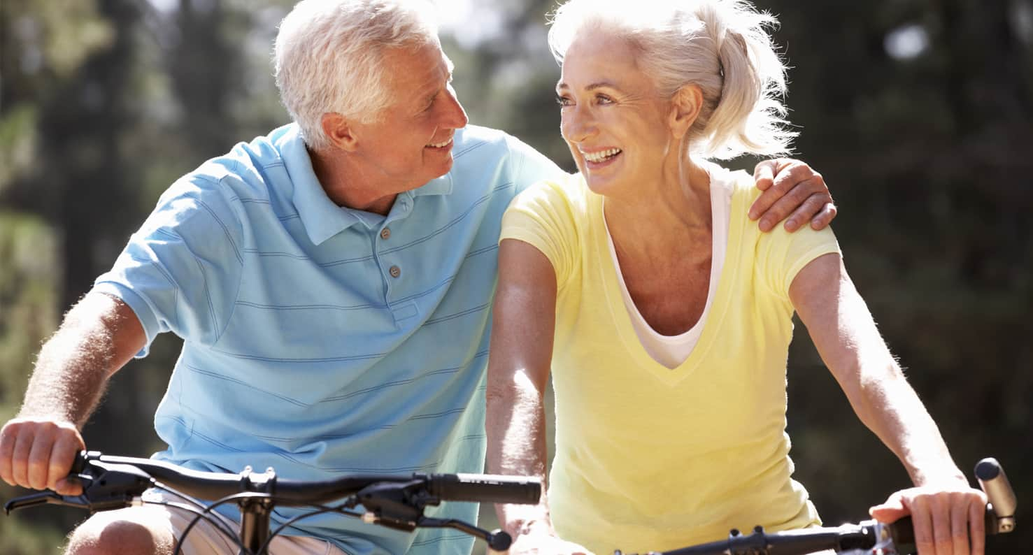 cataract couple riding bikes