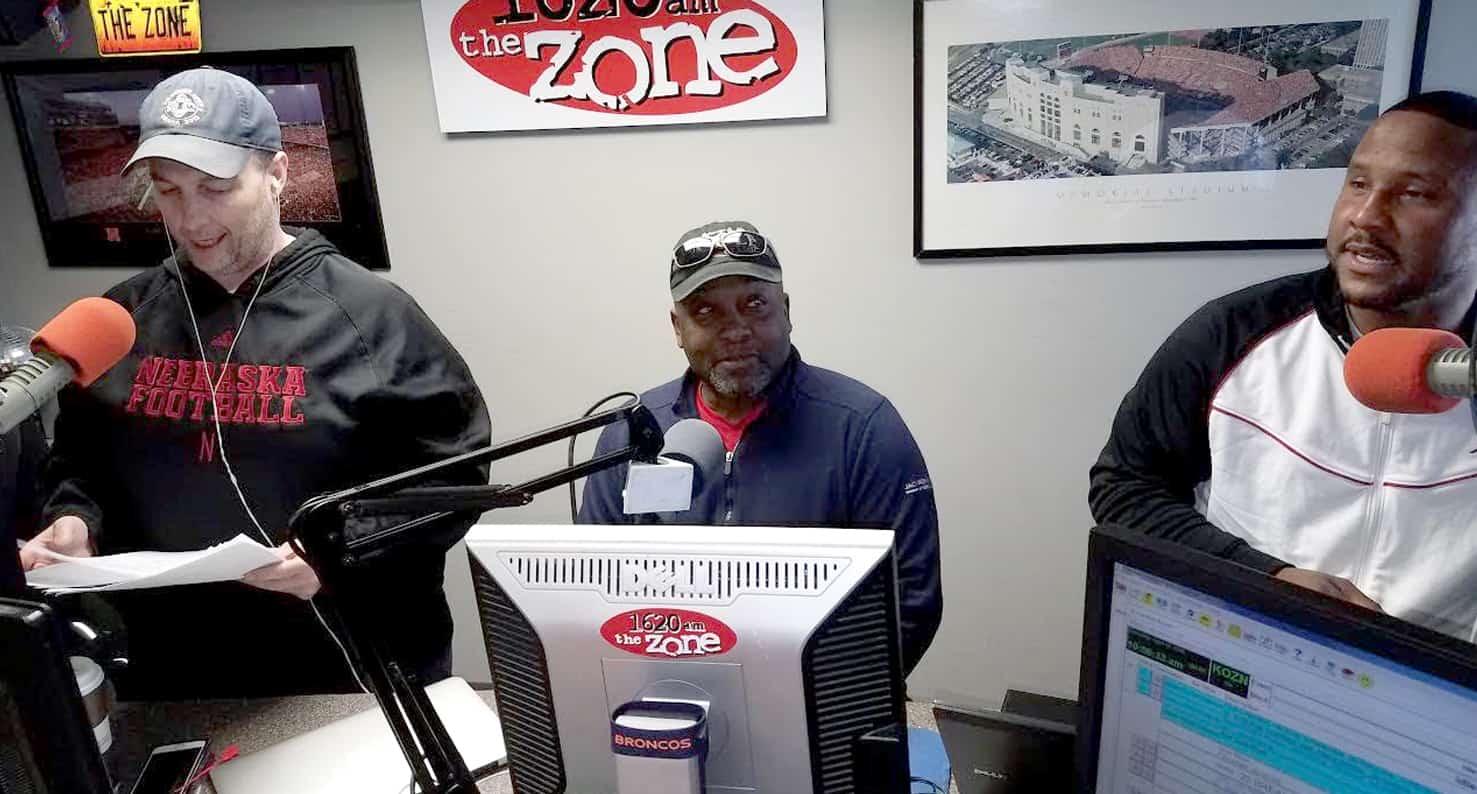 Gary at work at KOZN behind the microphone