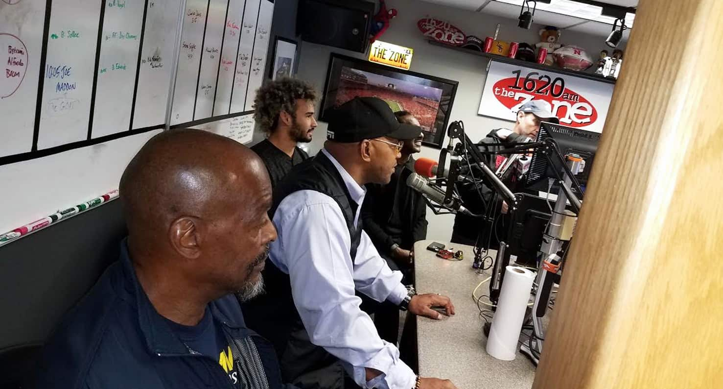 Gary in the KOZN studio before his vision correction.