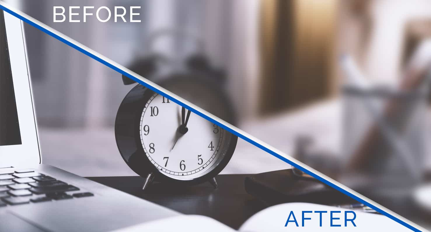 """alarm clock """"before and after"""""""