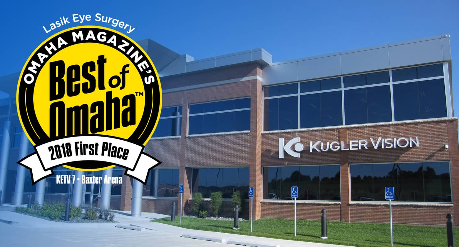 Kugler Vision Building with Best of Omaha Badge.