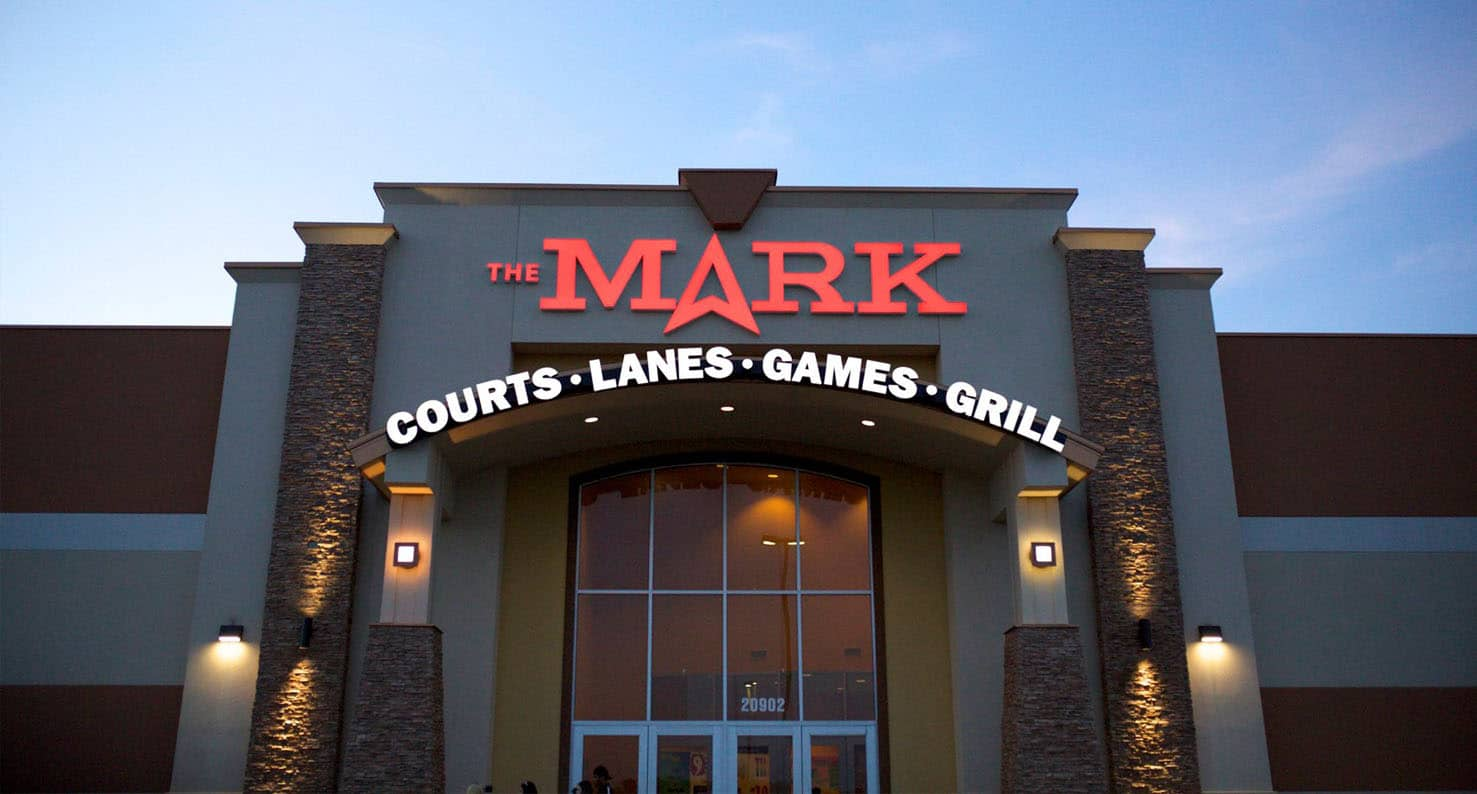 exterior of the mark bowling alley