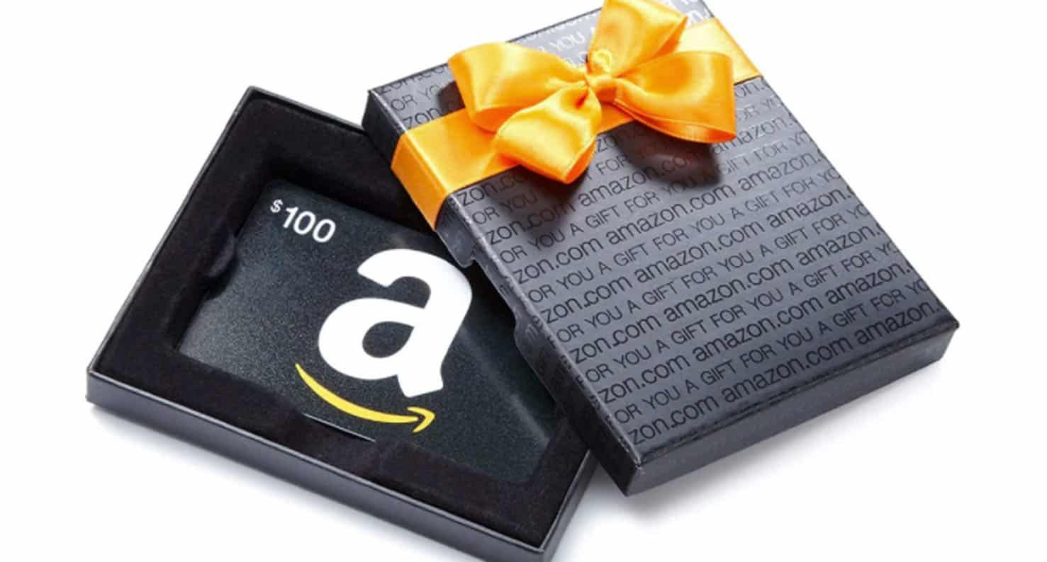 Amazon gift card with box